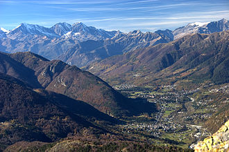Valle Vigezzo - The valley seen from Monte Torriggia.