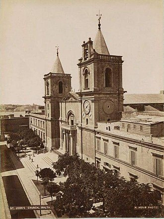 Saint John's Co-Cathedral - The Co-Cathedral in the 1870s