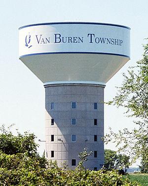 Van Buren Charter Township, Michigan - Van Buren Township Water Tower