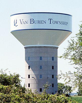 Van Buren Township, Michigan - Van Buren Township Water Tower