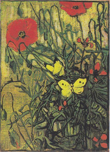 File:Van Gogh - Klatschmohn und Schmetterlinge.jpeg