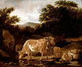 Van de Velde, Adriaen - Cows and Sheep in a Wood - Google Art Project.jpg