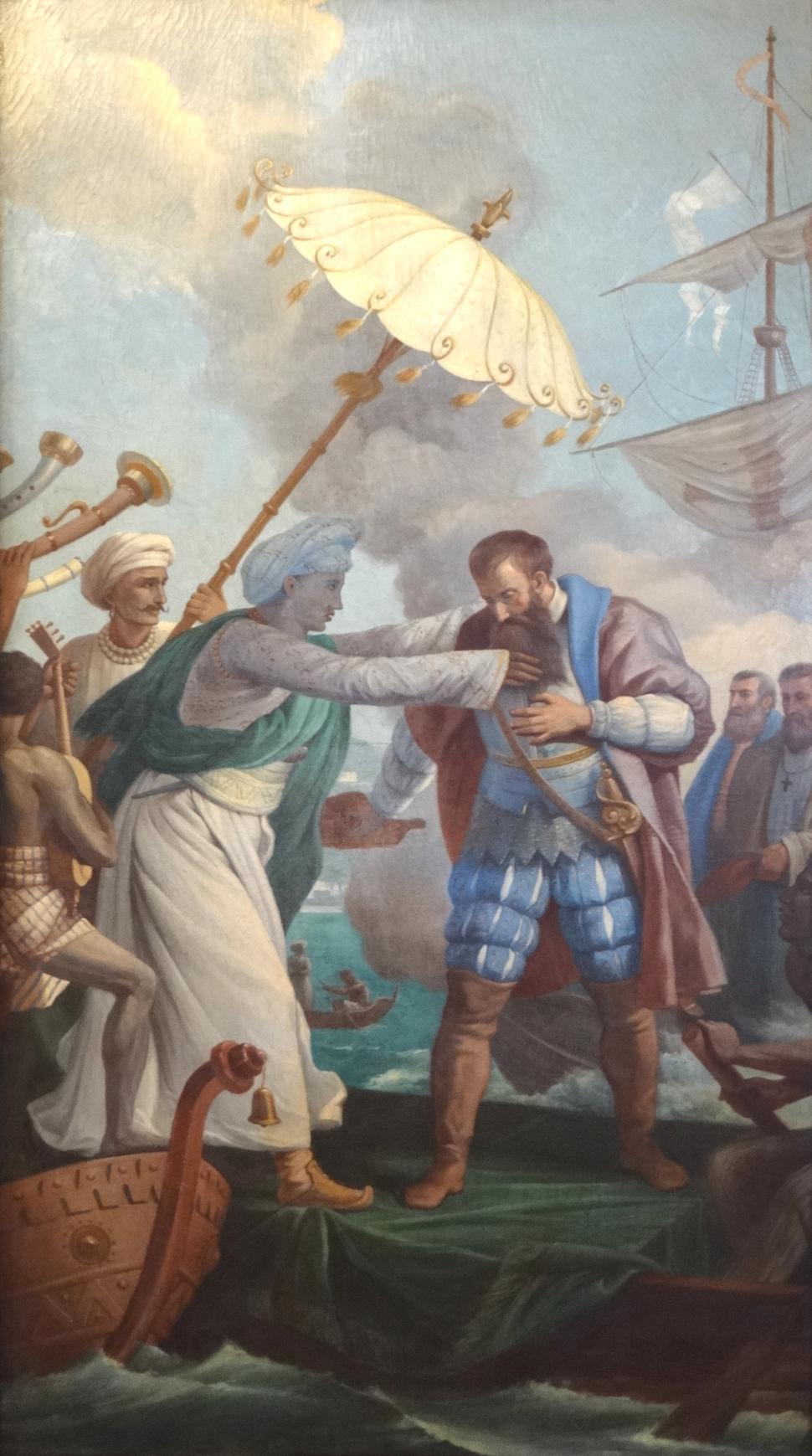 Vasco da Gama e o Rei de Melinde (Centro Cultural Português de Santos)