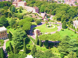 Geography of Vatican City - A view of the Gardens of Vatican City.