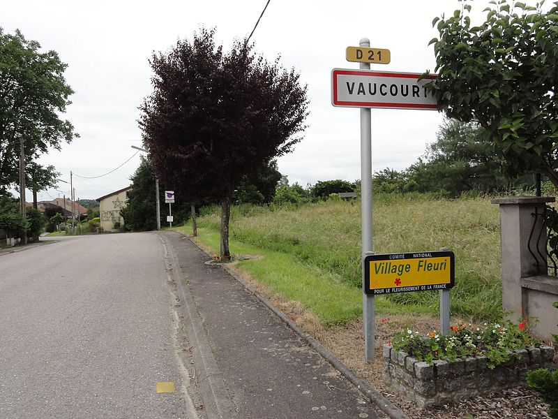 Vaucourt (M-et-M) city limit sign