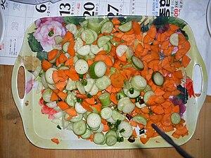 Carrot salad - Cucumber and carrot salad