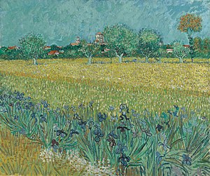 View of the Asylum and Chapel of Saint-Rémy - Image: Veld met irissen bij Arles s 0037V1962 Van Gogh Museum
