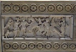 Veroli Casket - Image: Veroli casket, Bellerophon detail