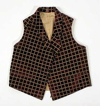 Vest - 1865-1875 American (silk and cotton) Vest