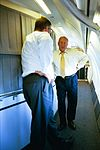 Vice President Cheney Talks with David Addington Aboard Air Force Two (18932815693).jpg
