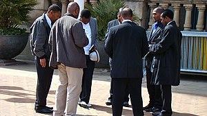 Prayer meeting - A prayer meeting in Victoria Square, Birmingham
