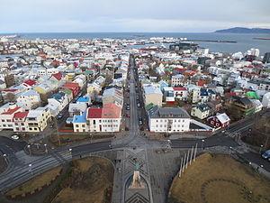 Hallgrímskirkja - View from the top of Hallgrímskirkja