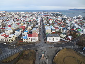 Hallgrímskirkja - Image: View from the top of Hallgrímskirkja