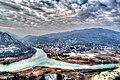 View of Mtskheta and rivers of Aragvi and Mtkvari from Jvari church.jpg