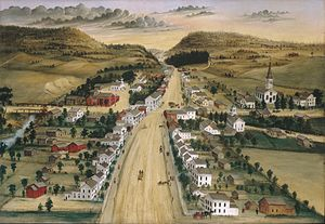 Poestenkill, New York - View of Poestenkill by Hadley (c. 1870)
