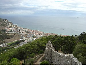 Sesimbra - Image: View of Sesimbra