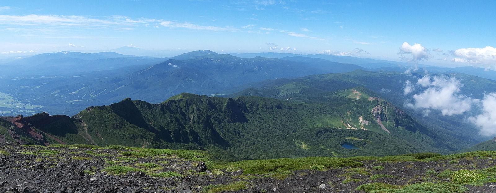 View of Western Iwate Caldera from the peak of Mount Iwate.jpg