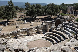 Iasos - View of agora from bouleuterion