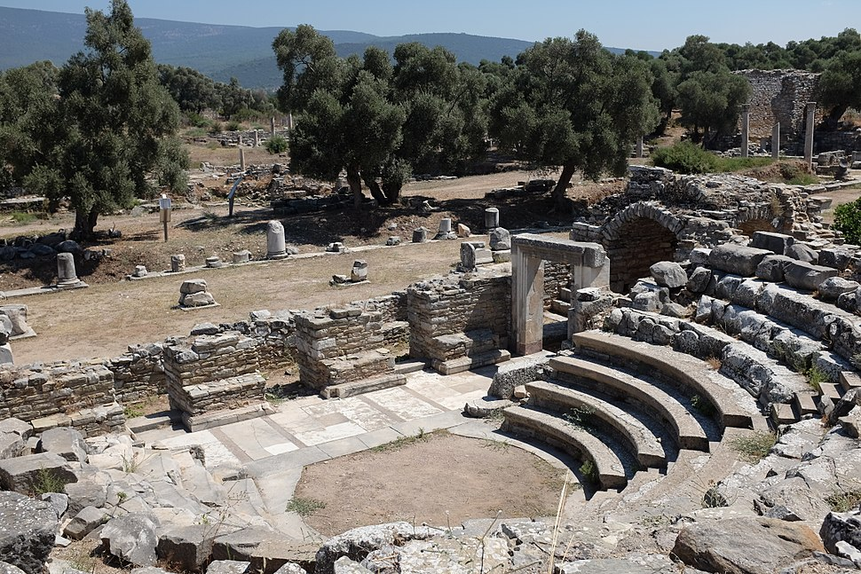 View of agora from bouleuterion of Iasos AvL