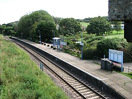 View to West Runton Railway Station from Station Road bridge - geograph.org.uk - 540687.jpg