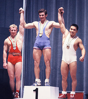 Viktor Kurentsov - Kurentsov (left) at the 1964 Olympics