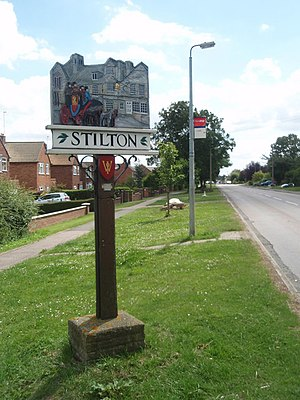 Stilton - Signpost in Stilton