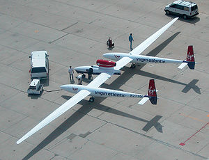 Virgin Atlantic GlobalFlyer - GlobalFlyer at the Mojave Spaceport in April 2004