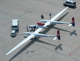 Virgin Atlantic GlobalFlyer - GlobalFlyer at the Mojave Spaceport in April 2004