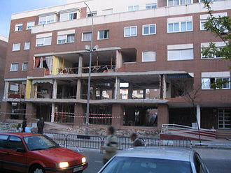 2004 Madrid train bombings - Damaged building in Leganés where the four terrorists died