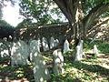 Vlachovo Březí (okr. Prachatice), židovský hřbitov, pohled na západní stěnu.JPG