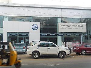 Volkswagen Group Sales India - Volkswagen India showroom at Anna Salai, Chennai