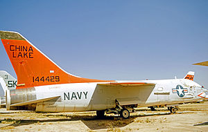 Naval Air Weapons Station China Lake - Vought DF-8F Crusader drone director based at USN China Lake