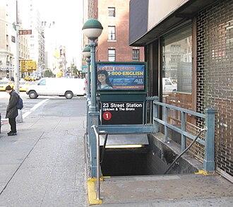 23rd Street (IRT Broadway–Seventh Avenue Line) - Northbound street stair