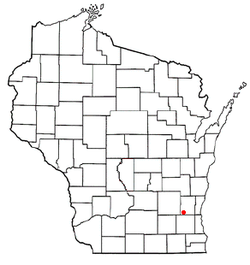 Location of Erin, Wisconsin