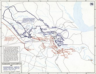 Battle of Chancellorsville - Battle of Chancellorsville, Situation Late 30 April 1863 and Movements since 27 April