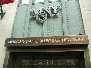 Metropolitan College of New York - Image: WSTM Mark Frank 0015