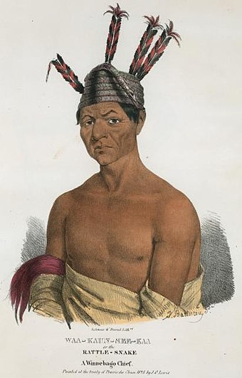 Chief Waukon Decorah in 1825