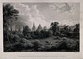 Wadham College, Oxford; panoramic view of the city from the Wellcome V0014187.jpg