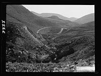 Wady Sha'ib Es-Salt, Amman, etc. Wady Sha'ib looking down the valley showing winding road LOC matpc.15293.jpg