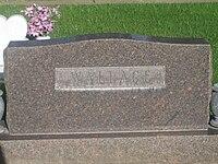 Wallace grave marker, Lubbock, TX IMG 4741.JPG