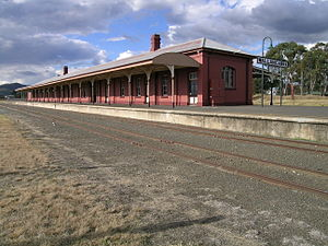 Main North railway line, New South Wales - Wallangarra station