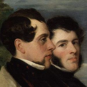 John Hollins (artist) - John Hollins (right) and Walter Prideaux