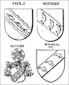 Wappenverwandtschaft Wittorf Thun Maydell 14. Jhdt.png