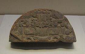Warring states roof tile end 2