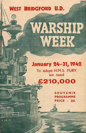 Warship Week - West Bridgford's Warship Week, aiming to adopt HMS Fury