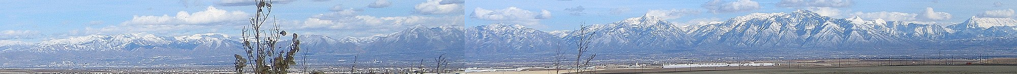The Wasatch Range behind Salt Lake City