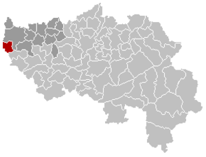 Wasseiges - Image: Wasseiges Liège Belgium Map