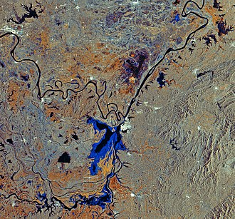 Dongting Lake - Image: Waters of central China