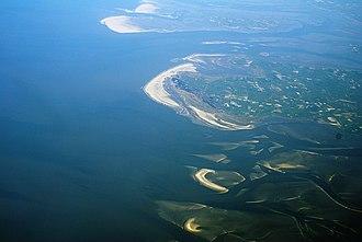 Schleswig-Holstein Wadden Sea National Park - Aerial photo of Trischen, Eiderstedt and the southern North Frisian barrier islands