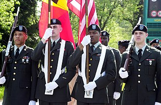 333rd Field Artillery Battalion (United States) - Honor guard for the Wereth 11 in 2007.